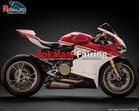 För Ducati 959 2015 2016 2017 Fairing Set 1299 1299s 15-17 Efter Sale Motorcycle Red White Fairings Kit (formsprutning)