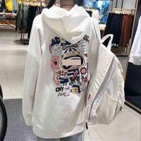 1Graffiti women's fashion good-looking sweater new 2021 Korean versatile loose foreign style