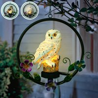 LED Waterproof Solar Owl Shape Night Light Hook Suspension H...