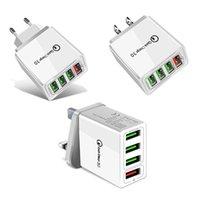 Быстрая зарядка 3.0 4.0 USB зарядное устройство 3.1A быстрый настенный мобильный телефон зарядное устройство для 4 портов адаптера QC 3.0 зарядное устройство