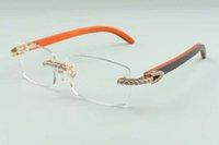 2021 Yeni Stil High-end Tasarımcılar Endlestes Elmas Gözlük Erkekler Kadınlar Için 3524012 Doğal Hibrid Ahşap Gözlük Çerçeve, Boyutu: 55-18-135mm