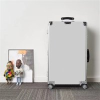 20 26 29 zoll Outdoor Fracht Reise Gepäck Fall Aluminiumlegierung Trolley Hüllen 972 Classic Luxury Designer Carry auf Koffer