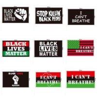 90x150 cm Siyah Hayatlar Madde Afiş Siyah Protesto Afiş Ben Bayrak Amerikan Geçit Bader Bayrakları Nefes alamıyorum 200 adet