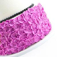 3D Farfalla Orchid Fondant Stampo Cake Decorating Strumenti Strumenti in silicone Stampo in silicone Torta di nozze Strumenti di cottura Formazione del pizzo Forma di gelatina di cioccolato 210225