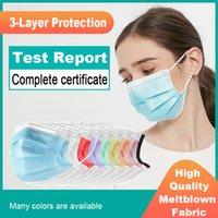 일회용 얼굴 마스크 3 층 보호 위생 야외 시험 보고서가있는 국제 인증 및 통기성 마스크 국제 인증 YL0364