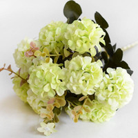 Decorative Flowers & Wreaths 10 Heads Home DIY Handmade Hydrangea Artificial Flower Bouquet Silk Gift Party Simulation Wedding Decoration Ar