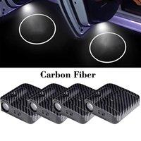 2 Pcs Universal Carbon Fiber Led Car Door Logo Ghost Light for Acura Subaru Cadillac Infiniti Auto Emblem Laser Projector Lamp