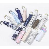 Umbrellas Fashion Multicolor Printing Umbrella Rain Women Uv Hook U-shape Curved Handle For Cute