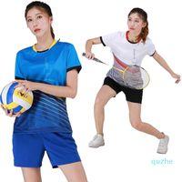 Badminton sets 2021 mulheres camisa de golfe mesa de tênis desportistas Quick Seco Sports Shorts Tshirts Mulheres Futebol Jersey Sets