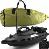 FISH FINDER SEHR100 500m Wireless GPS Angelköder Boot Hookbait Post Speedboat 2 Hopper für Angelkarpfen mit Tragetasche