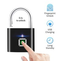 Lock Smart Fingerprint Lock USB Rechargeable Empreinte digital Cadlock DÉVERTURE SANCEMBLE DE ZINC ALLIAGE MÉTAL CHIP POUR PORTES BAGAGAGES
