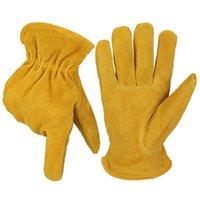 Ozer Cowhide Frio Prova Luvas Ao Ar Livre Proteção Trabalho Trabalho Resistência a Baixo Temperatura Espessura Esqui Quente