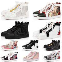 Designer Shoes Red Bottom Women Men Big Size Us 13 Black Suede Studded Spikes White Flat Heels Golden Loafers Wedding Dress Luxury Platform Sneakers Trainers Eur 36-47