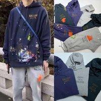 Galerie Département de Sweat à capuche peintes Français Pantalon Sweats à capuche Sweats-Sweats à capuche surdimensionnée Vintage Pantalon Pantalon Streetwear