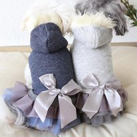Dog Apparel Lace Pet Clothes Winter Warm Bathrobe Jumpsuits With Hat Pajamas Thick Coats Clothing For Dogs Cat Yorkie Teddy