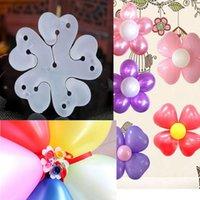 3 adet / takım Çiçek Balonlar Dekorasyon Aksesuarları Erik Klip Doğum Günü Düğün Parti Plastik Balon Klip Çiçeği Tutucu