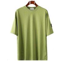 CP 여름 기본 코튼 반팔 새로운 여름 배지 짧은 소매 패션 캐주얼 느슨한 간단한 기본 티셔츠