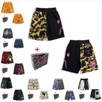 Men shorts women's Beach pants high quality luminous camouflage star shark head five-point casual M-3XL Bring tote bag 0102
