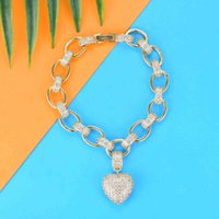Siscathy 2019 мода евремере модная связь цепь влюбленные сердца браслеты кубический Zircon CZ манжеты женщины женские браслеты