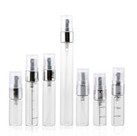 2ml 3ml 5ml Transparent portable spray bottle Perfume Glass Bottles Vials Refillable Perfume Atomizer Travel SN5162