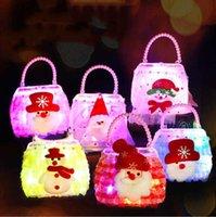 Творческие рождественские украшения светящиеся сумки Детские игрушечные сумки модные пластиковые красочные сумки для детских рождественских подарков