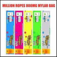 백만 로프 800mg Mylar 가방 빈 포장 가장자리 씰링 가방 호일 식품 패키지 5 종류