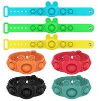 Push Bubble Fidget Bracte Toys сжимание чувствительных кольца Браслеты партия одолжение головоломки прессование пальцев пузырьки стресс браслет прессование мяча декомпозиция украсить