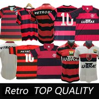 Retro Flamenko Futbol Jersey 2009 1995 # 10 Diego 7 E.Ribeiro 1988 1990 1982 Camisa de Futebol Guerrero