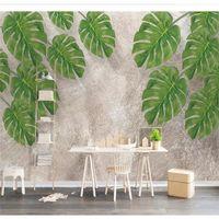 Wallpapers Custom Wallpaper 3d Po Mural Stereo Natural Fresh Green Leaves Restaurant TV Background Wall Papers Home Decor