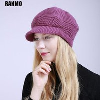 Beanie / Skull Caps Ranmo Brand Sombrero de invierno para las mujeres Fuerzas de cachemirías de CashMere Girls Skullies Sólido Casual Femenino Femenino Lana suave Cálido Sombreros