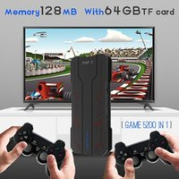 Portable Game Players 2021 4K HD Video Console 2.4G Double Wireless Controller For PS1 FC GBA Retro TV Dendy 5200 Games Stick