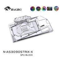 Fans Kühlungen BYKSKI Water Block Verwendung für Asus ROG RTX3080 3090 Strix GPU-Karte / Kupfer-Backplate RGB A-RGB Aura / AIC