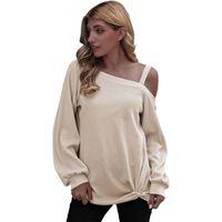 Women's T-Shirt Women Tees Sexy Tops Casual Long Sleeve Sweaters Cotton Sweater Shirts Autumn