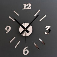 Wall Clocks DIY 3D Roman Numbers Watch Clock Acrylic Mirror Stickers Watches Home Decor 4 Colors
