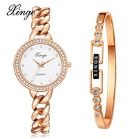 Wristwatches Xinge Brand Watches Women Fashion Watch 2021 Set Wristwatch Bracelet Waterproof Elegant Suit