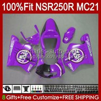 Inyección Oscuro púrpura OEM para HONDA NSR250R NSR 250 R MC21 PGM3 103HC.225 NSR 250R NSR250 1990 1991 1992 1993 NSR250RR 90 91 92 93 Alquiler