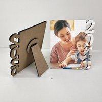 MDF sublimación en blanco marco de fotos de letras de madera tablero de foto sublimación de la familia blanca casa del álbum marco marítimo marco marítimo OWB8668