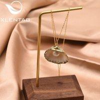 Xlentag Fine Natürliche Muschel Süßwasser Perlen Anhänger Halskette Für Frauen Mädchen Geburtstag Party Geschenk Collier Femme GN0141