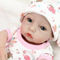 10 Inch Reborn Baby Dolls Realistic Mini Menino Menina Bath Play Toys Kids Bed time Partner Child Surprise Gifts