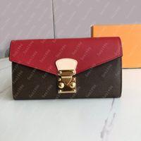 أزياء عالية الجودة امرأة محافظ محفظة طويلة حاملي بطاقة محفظة أكياس عملة محفظة مفتاح حالة محفظة مع مربع # 58414