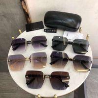 2021 Nouveau Top Haute Qualité Framedess Marque Fashion Designer Lunettes de soleil Grand Cadre Summer Style Mixte Color Lunettes Prescription Unisexe