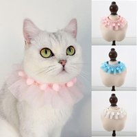 Pet Cat Accessoires Nette Prinzessin Katze Lätzchen Halskette Einstellbar Schal Spitze Kragen Für Kätzchen Chihuahua Welpen Hund Halsband Halsband