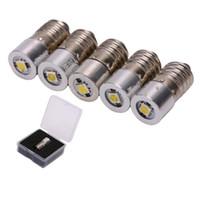 Ampoules E10 P13.5S BA9 0,5W LED pour la mise au point Torches d'ampoule de remplacement Lampe de travail DC3V 4.5V 6V 7,5V 9V 12V FROID