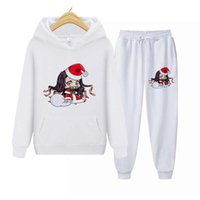 Women's Two Piece Pants Christmas Tracksuit Autumn Fashion Cute Hoodie Sweatshirts 2 Pieces Casual Hoody Pullovers Long Pant Sets Suit Femal