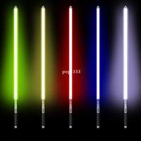 DHL Lightsaber 장난감 금속 핸들 무거운 Dueling 12 색 LED 변경 볼륨 힘 6 사운드 fons foc 블래스터 레이저 칼 도매