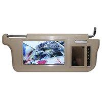 HXLMOTO 7 بوصة سيارة الشمس قناع شاشة مرآة شاشة LCD DC 12V البيج مرآة شاشة الداخلية ل AV1 AV2 لاعب كاميرا سيارة دي سي