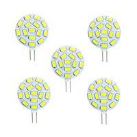 15 LED G4 LED 5730SMD 12V AC / DC 24V DCホワイトマリンキャンピングカーRVライトランプバイピンボート電球5PCS /ロット