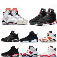 الجملة رخيصة 6 ولدت 6 ثانية أحذية كرة السلة الرجال القط الأسود الأسود الأشعة تحت الحمراء ريترو الرجال المدرب الرياضة أحذية رياضية الحجم 13
