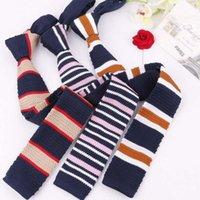 넥 넥타이 5cm 니트 넥타이 망 여성 좁은 평면 헤드 슬림 스키니 웨딩 파티 공식적인 Cravat 맞춤 로고를위한 짠 넥타이