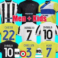 JUVENTUS soccer jerseys 2021 2022 DYBALA MORATA CHIESA LOCATELLI McKENNIE football kit shirt 21 22 JUVE chiellini bonucci Men Kids uniform